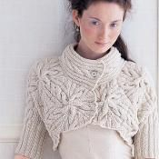 Cabled Bolero [VKW0607_02] - via @Craftsy