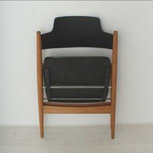 Paire de chaises à repas en hêtre, Egon EIERMANN - 1960