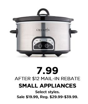 Kohl's Black Friday Sale! Small Appliances $4.99 after rebate! Buy 3 & get them FREE! - http://www.pinchingyourpennies.com/kohls-black-friday-sale-small-appliances-4-99-after-rebate-buy-3-get-them-free/ #Blackfriday, #Kohls, #SmallAppliances