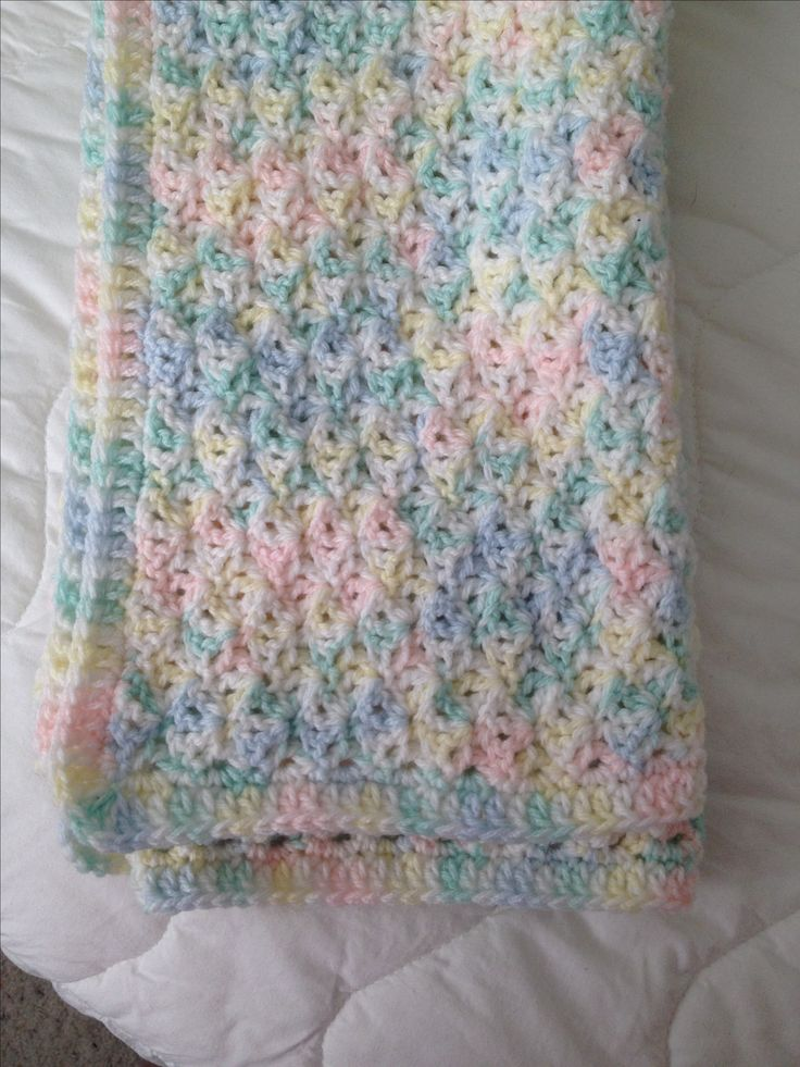 Baby Blanket Using Loops And Threads Snuggly Wuggly Yarn