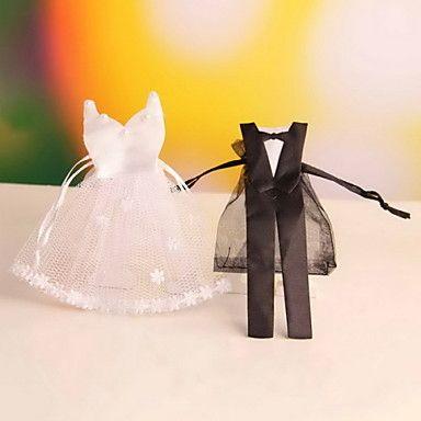 Bomboniere+borse+-+per+Matrimonio/Anniversario/Addio+al+celibato/nubilato+Non+personalizzato+-+di+Organza+–+EUR+€+5.87
