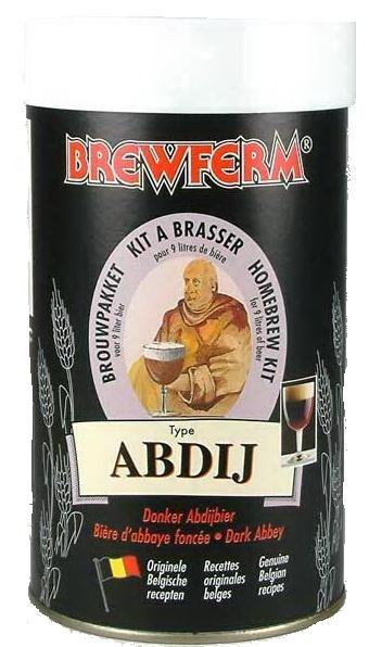 Brewferm Abdij 9l    Celebra bere belgiana de manastire.Cu gust usor de vin, datorita continutului ridicat de alcool.  Puternica,maro inchis, rezistenta in timp.Gust puternic,cu aroma de malt. Groasa si cu spuma ce dureaza.    Ingrediente:  Extras de malt cu hamei  Drojdie speciala Brewferm    Greutate kit - 1.5 kg  Pentru 9 litri de bere  ABV - aprox. 8%