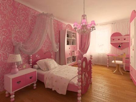 Kamar Tidur Anak Perempuan Pink   Modern   Mewah   Terbaru   Furniture Kamar Terbaru