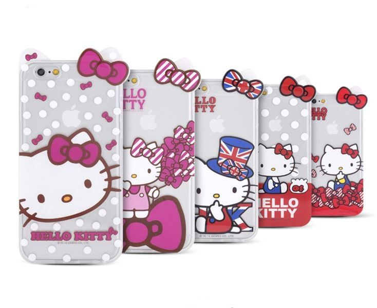 HELLO KITTY ADORABLE CLEAR INMOLD MOBILE CASE FOR GALAXY S6 EDHE