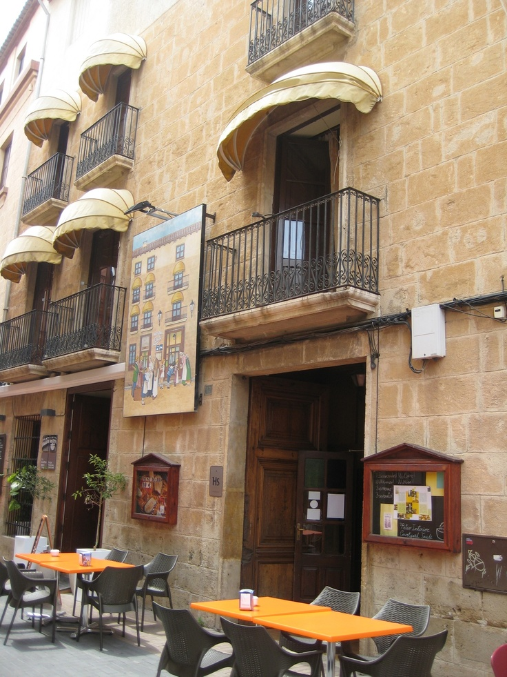 The start of the 'tapas street' in Denia, Spain .. such a wide choice of delicious tapas restaurants.