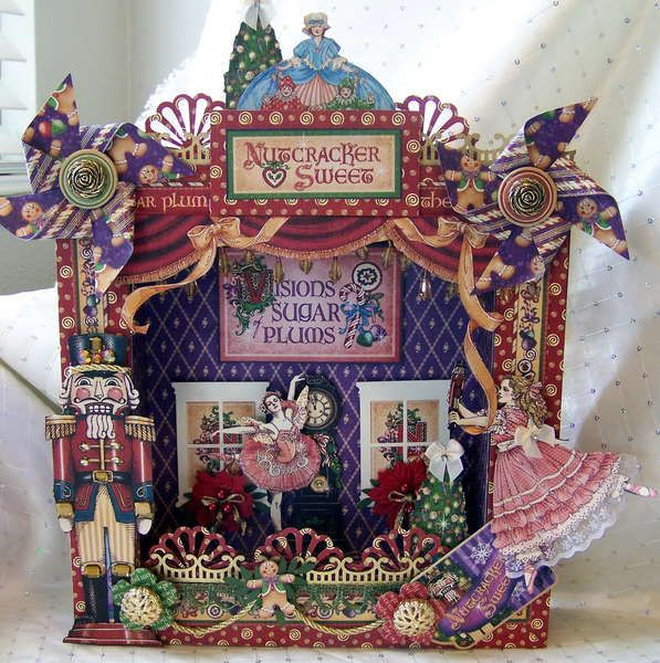 I want to make this shadow box!  Nutcracker Sweet by Graphic 45 I can do this with French Country...pooh, I can't wait!