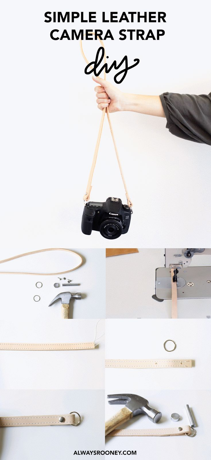 It was about time I re-made my original Simple Leather Camera Strap DIY  since I recently gave my original strap away to a friend. This...