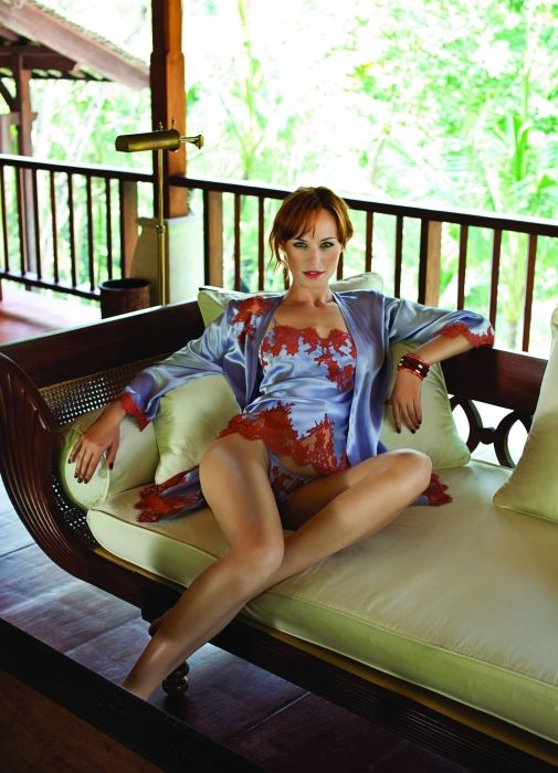 Marjolaine Lingerie - Silk Nightdress - Silk Kimono - Oleanda Dessous