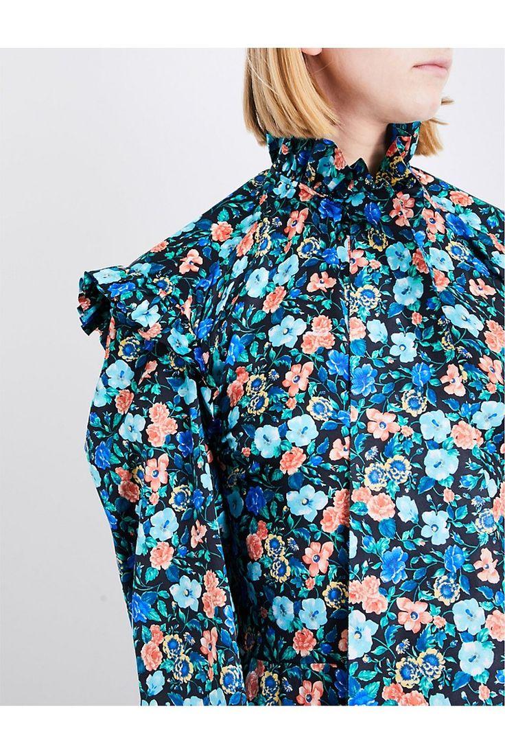 VETEMENTS - Biker floral-print silk-satin dress | Selfridges.com