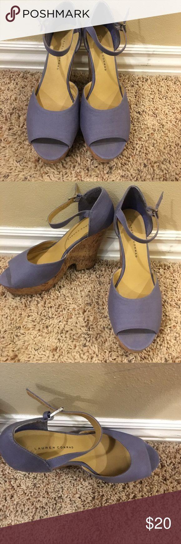 Purple wedges Purple Lauren Conrad shoes. Like new!! LC Lauren Conrad Shoes Wedges