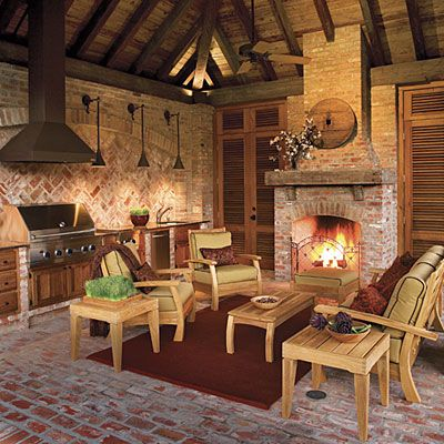1000 images about homes braai room on pinterest for Outdoor rooms with fireplaces