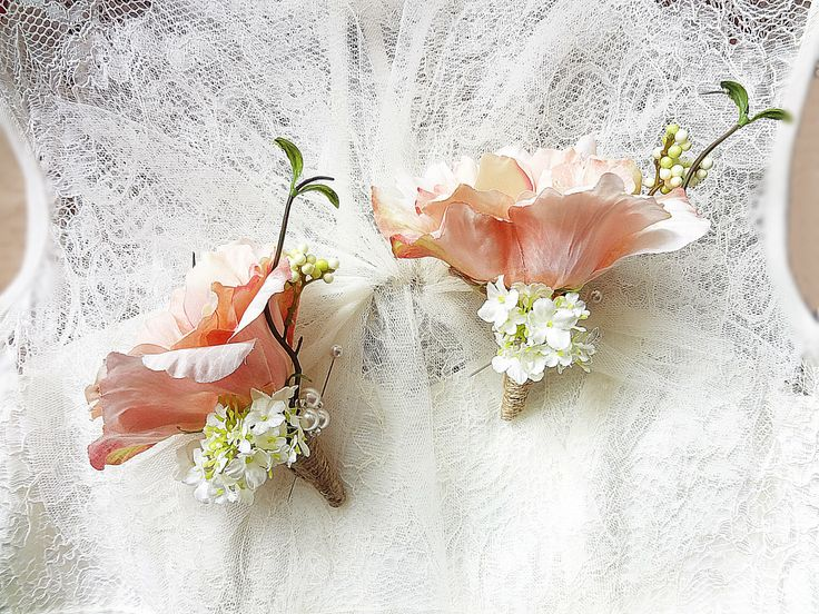 Ladies corsage Rustic wedding Blush Lizianthus Snow ball Berries Twigs Single Flower Lapel pin by FlowerBootsLigaAsere on Etsy https://www.etsy.com/listing/231112996/ladies-corsage-rustic-wedding-blush