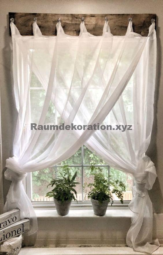Room Decor – Einfache Bauernhaus-Fensterbehandlungen – #BauernhausFensterbehandlungen #Einfac