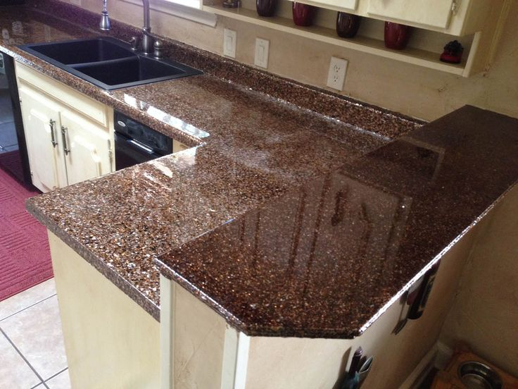 Idea For Diy Epoxy Countertop Too Much Glitter But Nice