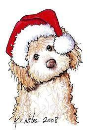 Image result for christmas dog drawings