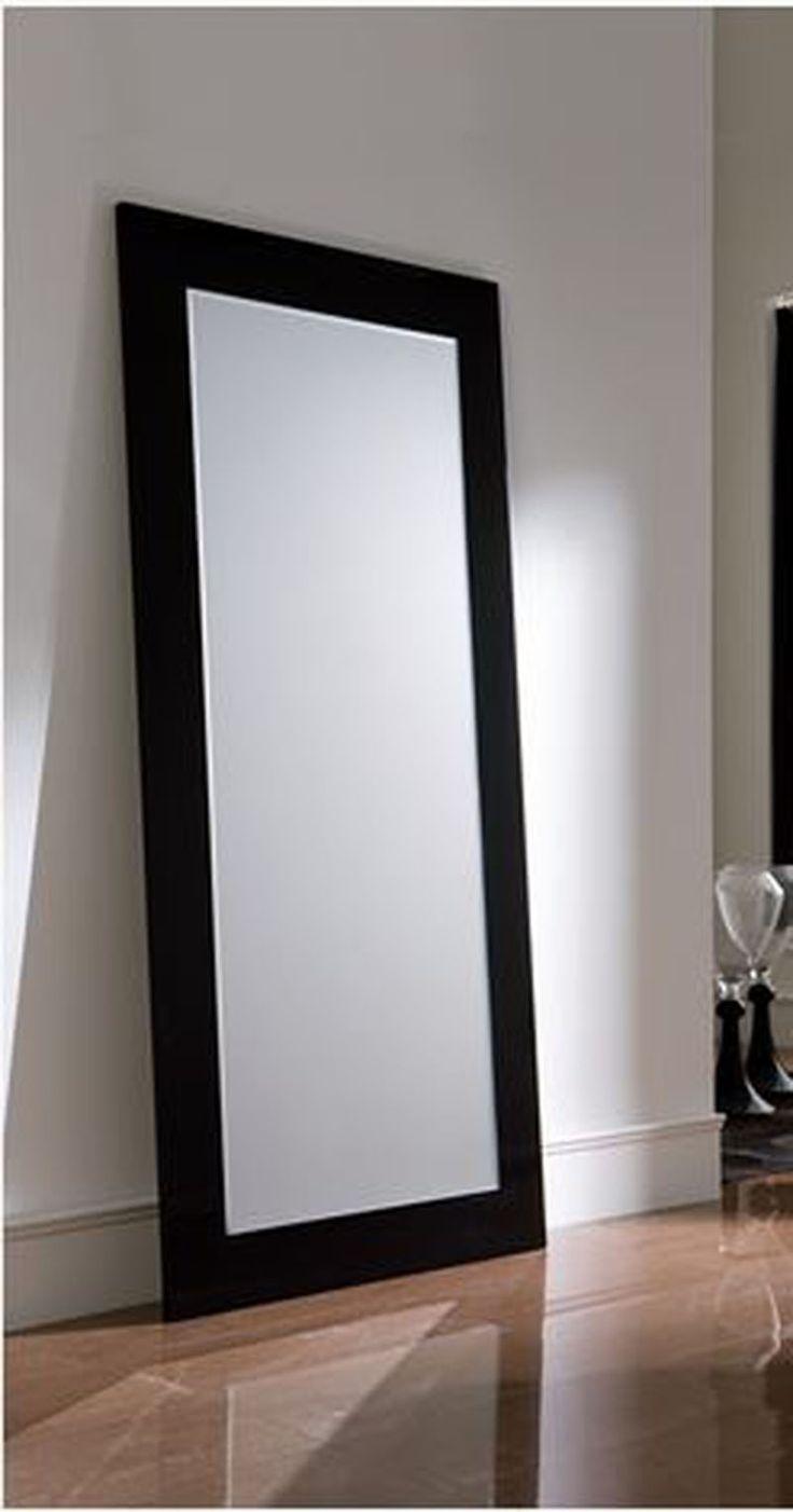 Espejos modernos vestidor negro hogar pinterest for Ideas para enmarcar espejos