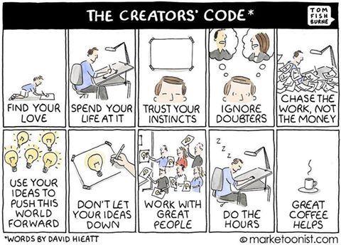 Creative Code 😇✌🏻️[📷tomfishburne] #keepitsimple
