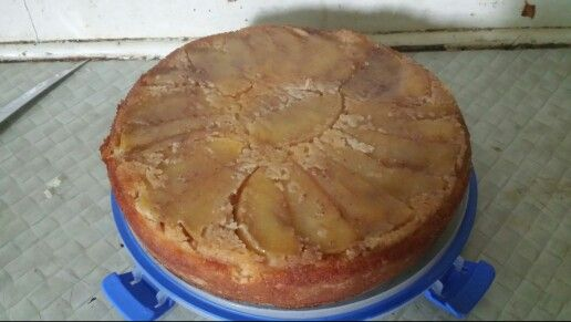 Apple upside down paleo cake