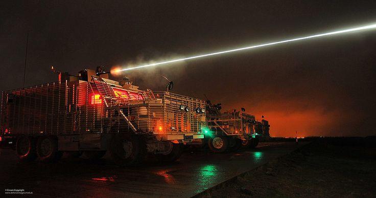 Mastiff Vehicle .50 Calibre Heavy Machine Gun Night Firing… | Flickr