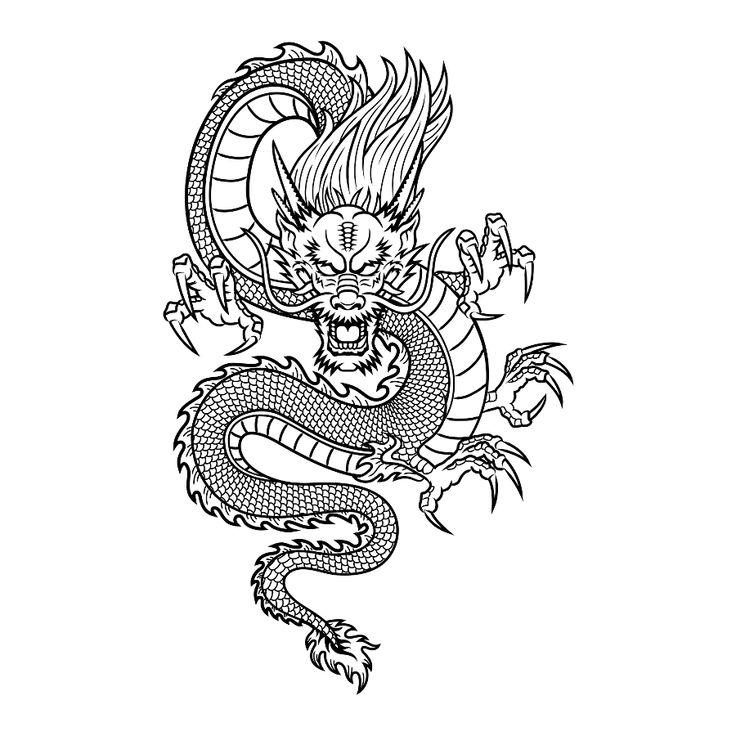Японские драконы картинки шаблоны