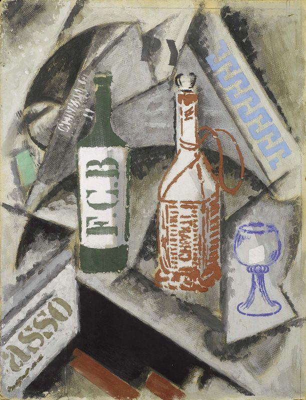 Ardengo Soffici - Trofeino - Tempera su cartone - cm. 65,1x50,2