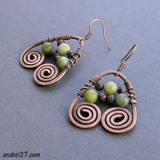 "Серьги ""Дриада"" earrings with wire coils"
