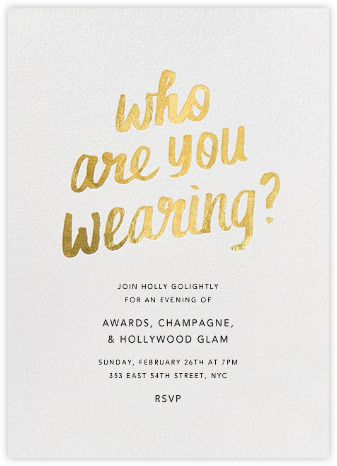 Fun Oscars party digital invitation at Paperless Post.