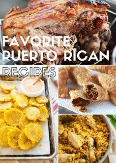 Today I am collecting all of my favorite traditional and inspired Puerto Rican recipes in one place. Enjoy and Cook on! Buen provecho! Traditional Pastelillos de Carne (Puerto Rican Meat Turnovers) Arroz con Pollo Pavochon Fricassee de Pollo Alitas en Escabeche (Wings in Escabeche) Sopon de Patitas de Cerdo con Garbazos (Trotters and Garbanzo Bean...