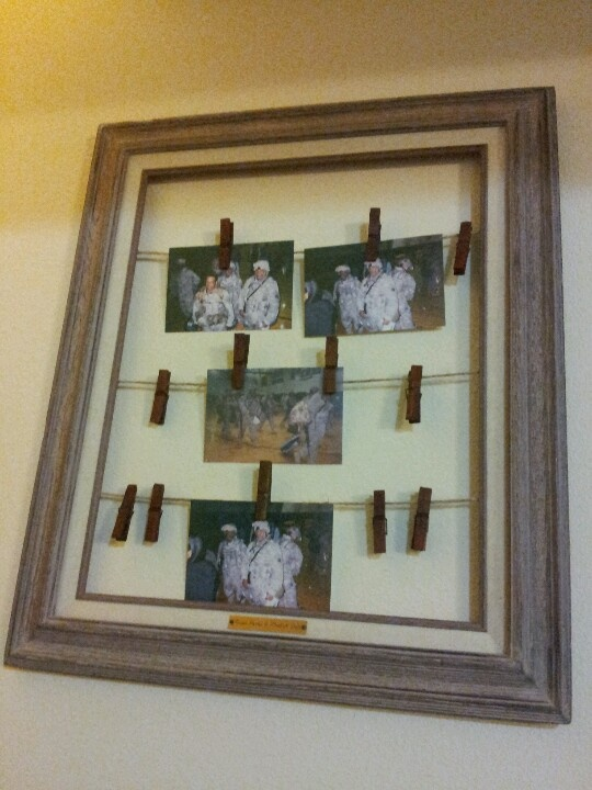 homeade clothes pin frame