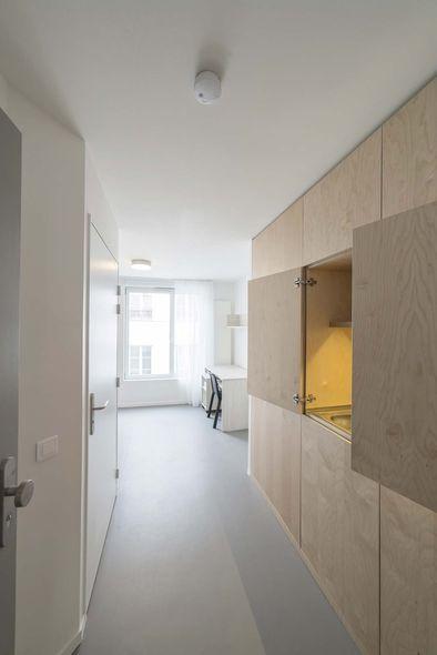 Antoine Regnault Architecture, Crèche et résidence étudiante, Paris XXe, 2016