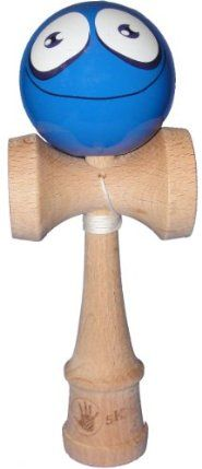 5K Kendama - Blue Silly Face, Extra String Included by 5K. $19.95. Shiny and polished blue silly face. Made of high quality beech wood. Designed for children 12+. Standard kendama size and weight. Replacement string and bead pack with every purchase. This standard size 5K Kendama is perfect for the beginner all the way up to the kendama master. The kendama offers endless trick possibilities. Can you master the bird the airplane or even the lighthouse? Go ahead, give it a try...