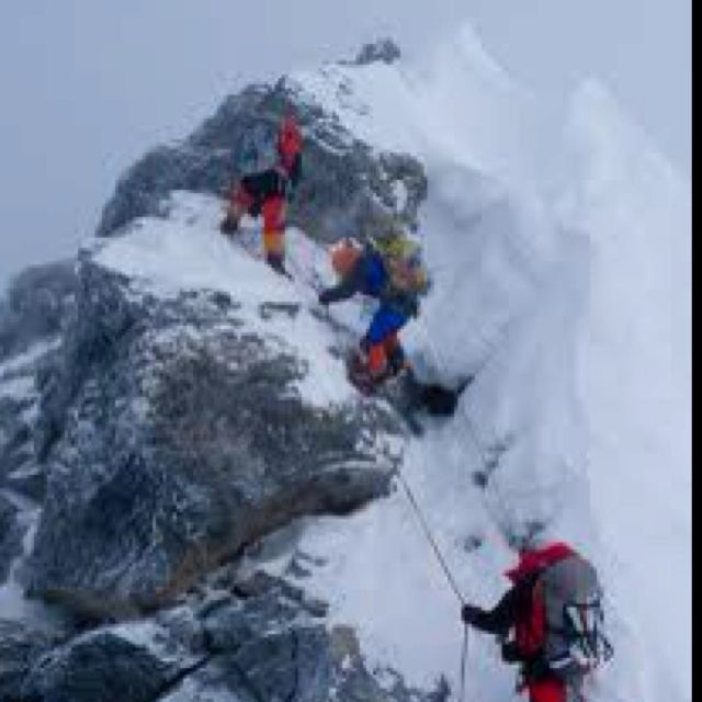 an analysis of the topic of the survival as the highest priority and climbing on the mount everest