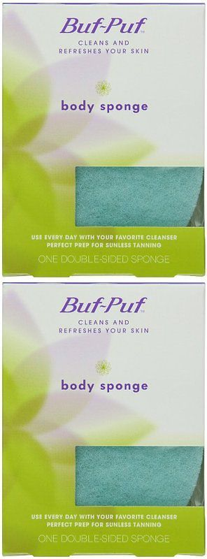Bath Brushes and Sponges: Buf-Puf Double-Sided Body Sponge (Quantity Of 6) -> BUY IT NOW ONLY: $35.24 on eBay!