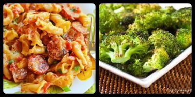 Spicy Sausage Pasta and Roasted Broccoli: Weeknight Cooking