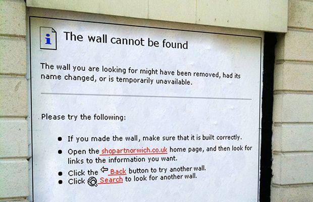 "Look At This! ""HTTP 404 Error"" Street Mural"