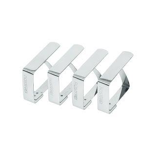 Clipsuri pentru fata de masa, otel cromat, 4 in cutie -  50x(H)40 mm