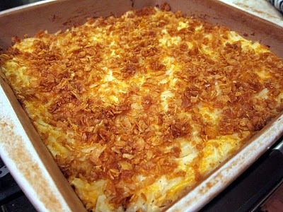 """Cheesey Potato Casserole named """"Liketa Died Potatoes"""" lol! So glad to be from the South! This is not a """"diet"""" recipe!"""