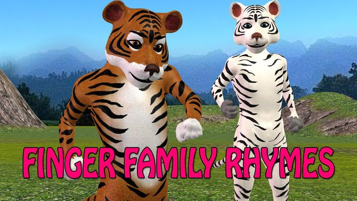 3d animal finger family | 3d tiger finger family | tiger cartoons rhymes...