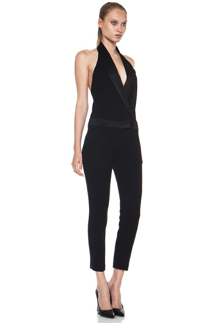 Athena massey red alert pictures to pin on pinterest - Haute Hippie Tux Silk Jumpsuit With Low Back In Black