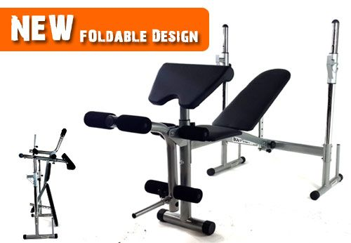 Adjustable Bench Press SSXV50 Features: •Adjustable Bench like Flat / Incline / Decline  •Complete with Bench with Leg Extension •Multi barbell position, with safety locking hooks. •Rating weight capacity 350LBS user weight •Foldable for space saving If you want to buy Bench Press SSXV50 only on $209.00, visit at http://www.worldfitness.com.au/product_info.php?products_id=1518