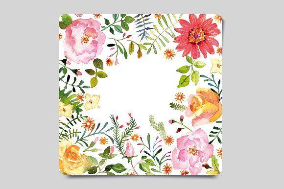 Watercolor Greeting Card by Karma on @creativemarket