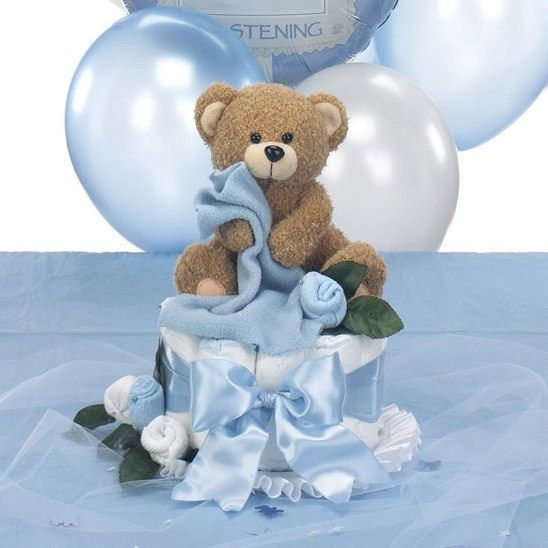 Baseball Baptism Theme Decorations And Christening Centerpieces For Boys  Comes With Teddy Bear U0026 Cross Table Sprinkles That Can Be Personalized!