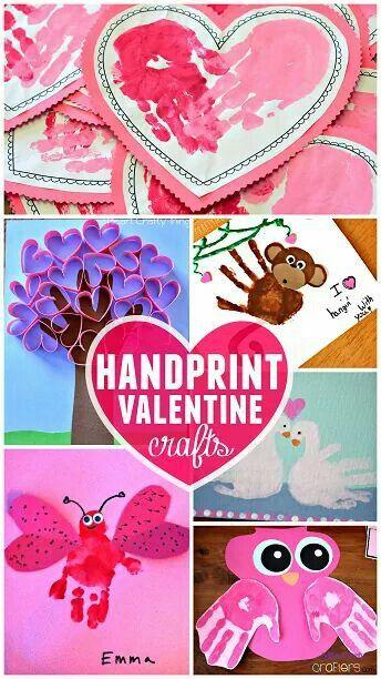 Handprint Valentine crafts