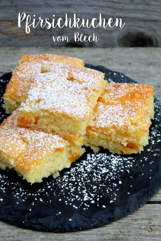 Rezept für super saftigen Pfirsichkuchen vom Blech – Silvia Müller