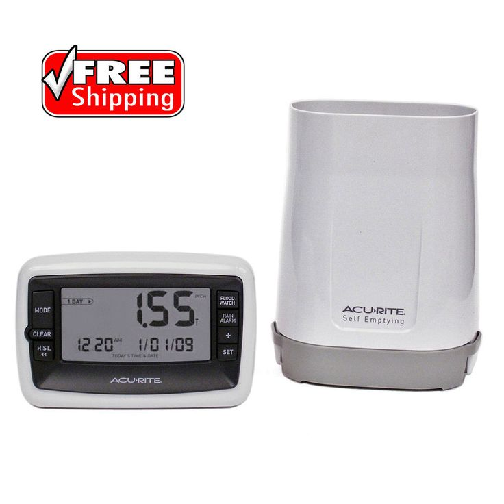 Wireless Rain Gauge Rainfall Measurement Flood Watch Alarm Weather Resistant New #AcuRite