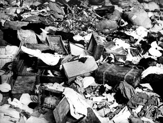 Majdanek, Poland, A pile of victims suitcases.