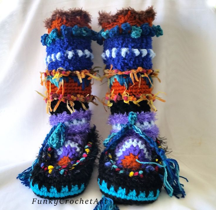 Funky & Fabulous Crochet Boots from Etsy