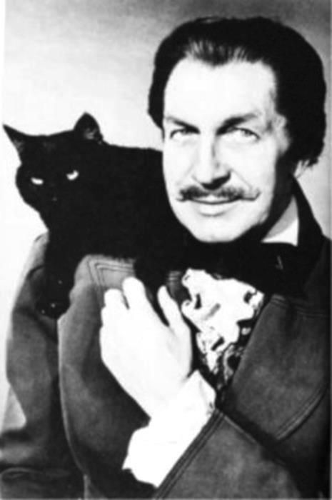 Vincent Price and friend.