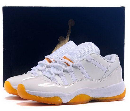 613ecd1b645797 Womens Air Jordan Retro 11 Low White Yellow Citrus Uk