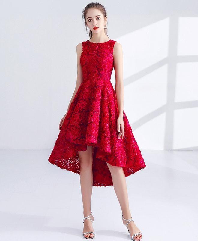 92f1a3056902 Cute A line prom dress